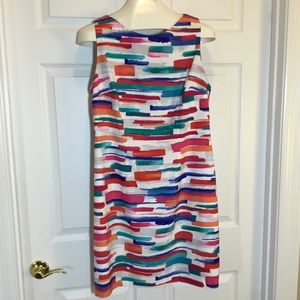 AGB Watercolor Print Sheath Dress Size 14